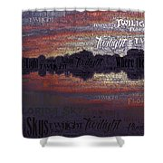Twilight In Pasco Shower Curtain