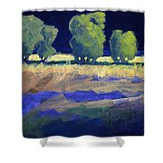 Twilight Landscape Shower Curtain