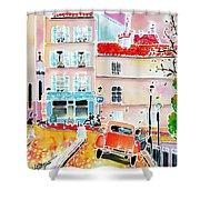 Twilight Montmartre Shower Curtain