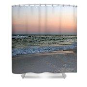 Twilight Ocean Beach Shower Curtain