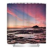 Twilight On Harkness Rocks Bamburgh Shower Curtain
