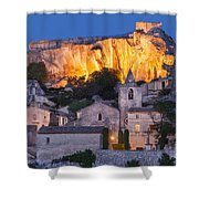 Twilight Over Les Baux Shower Curtain