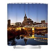 Twilight Over Nashville Tennessee Shower Curtain