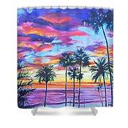 Twilight Palms Shower Curtain