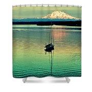 Twilight Sail Shower Curtain