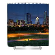Twilight Skyline Shower Curtain