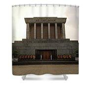 Twilit Ho Chi Minh Mausoleum Shower Curtain