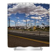 Twin Arrows Trading Post Shower Curtain