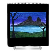 Twin Castles Shower Curtain