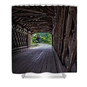 Twin Covered Bridges North Hartland Vermont Shower Curtain
