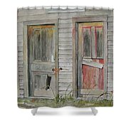 Twin Doors Shower Curtain