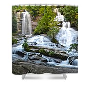 Twin Falls Flows Forth Shower Curtain