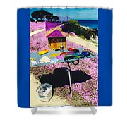 Oceanview Pinks Shower Curtain