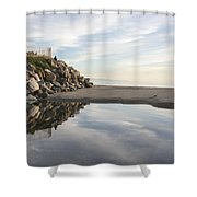 Twin Lakes Beach Shower Curtain