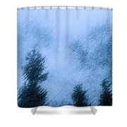 Twin Lakes Rain Shower Curtain