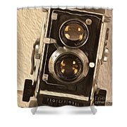 Twin Lens Reflex Redux Shower Curtain