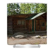 Twin No. 2 Cabin At The Holzwarth Historic Site Shower Curtain