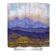 Twin Peaks Above The Fruited Plain Shower Curtain