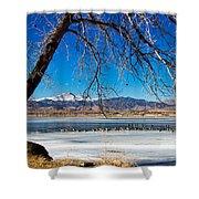 Twin Peaks Blue Shower Curtain