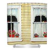 Twin Peeks Shower Curtain