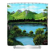 Twin Ponds Shower Curtain