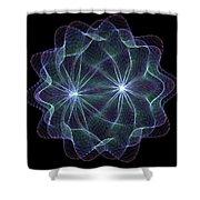 Twin Pulsar Shower Curtain