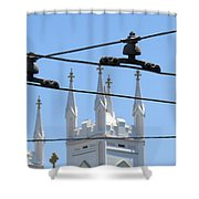 Twin Spires And Trolley Lines Shower Curtain
