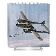 Twin-tailed Dragons Shower Curtain