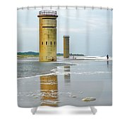 Twin Towers At Whiskey Beach Shower Curtain