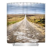 Twin Towers Road Shower Curtain