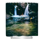 Twin Waterfall Shower Curtain