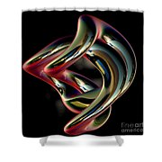 Twisted Abstract 2 Shower Curtain
