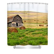 Twisted Barn On Canadian Prairie, Big Shower Curtain