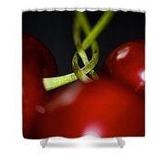 Twisted Cherries Shower Curtain
