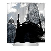 Twisted City Shower Curtain