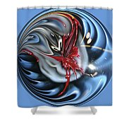 Twisted Clown Orb Shower Curtain