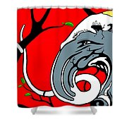 Twisted Shower Curtain