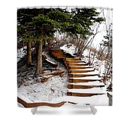 Twisted Staircase Shower Curtain