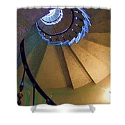 twisted stairs Vizcaya Shower Curtain