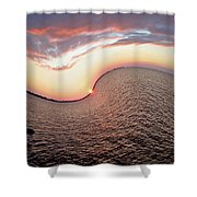 Twisted Sunset Shower Curtain
