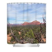 Twisted Tree View Shower Curtain