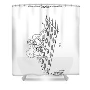 Twister Patent Drawing Shower Curtain