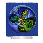 Twisting Orb Shower Curtain