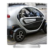 Twizy Rental Electric Car Side And Back Milan Italy Shower Curtain
