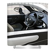 Twizy Rental Electric Car Side And Interior Milan Italy Shower Curtain