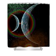 Two Alien Planets In A Distant Part Shower Curtain