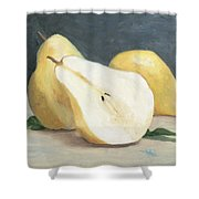 Two And A Half Pears Shower Curtain