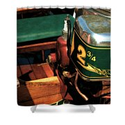 Two And Three Quarters Hp Muncie Outboard Motor Shower Curtain
