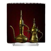 Two Arabic Coffee Pots Shower Curtain