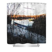Two At The Dock Shower Curtain